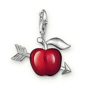 Cupid's Red Apple Charm
