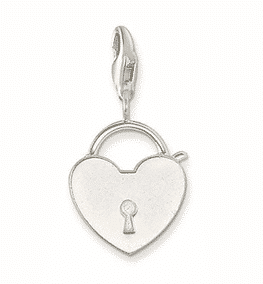 Heart Keyhole Charm 1